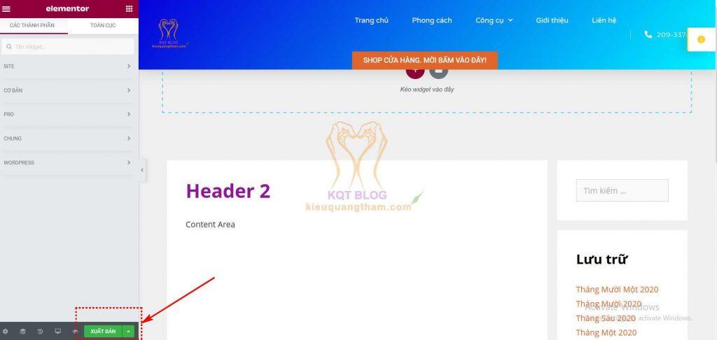 Cách Tạo Header Cho Website - Dipigo
