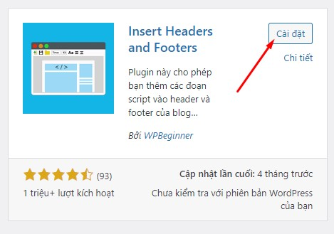 Cài Đặt Plugin Insert Headers And Footers